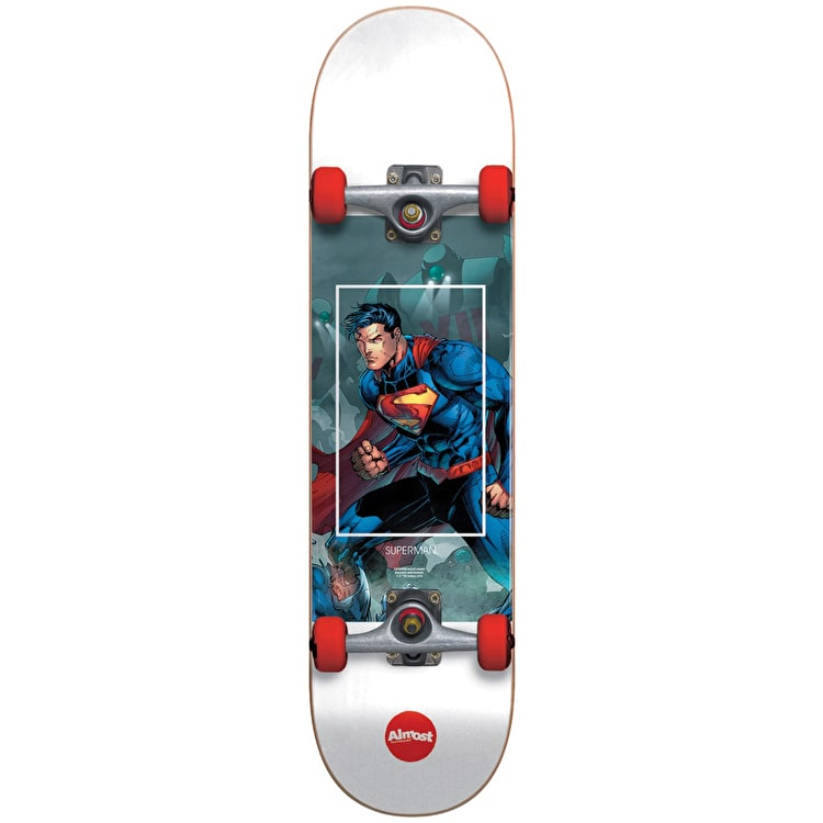 Almost Superman Fight Club Youth Complete Skateboard - Red 7""
