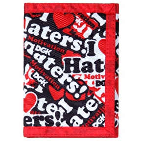 DGK Haters Collage Tri Fold Wallet - Red