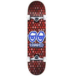 Krooked Nobel Eyes Complete Skateboard- Red 8