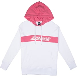 Santa Cruz Classic Strip Womens Hoodie - White/Rose