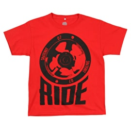 SkateHut Scooter Ride Kids T Shirt - Red