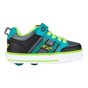 Heelys X2 Bolt Plus - Black/Teal/Charcoal