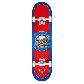 Rocket Logo Series All Star Complete Skateboard - Red/Blue 7.75