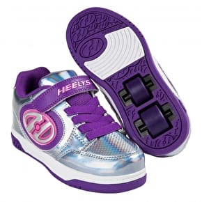 Heelys X2 Plus Lighted - Silver/Purple/Pink