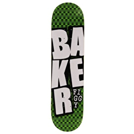 Baker Stacked Checkers Skateboard Deck - Figgy 7.75