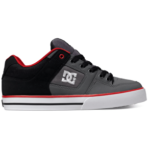 DC Pure Shoes - Black/Red/Grey