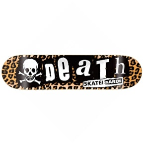 Death Skateboard Deck - Punk Leopard - 8.25