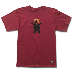 Grizzly OG Yosemite Bear T-Shirt - Burgundy