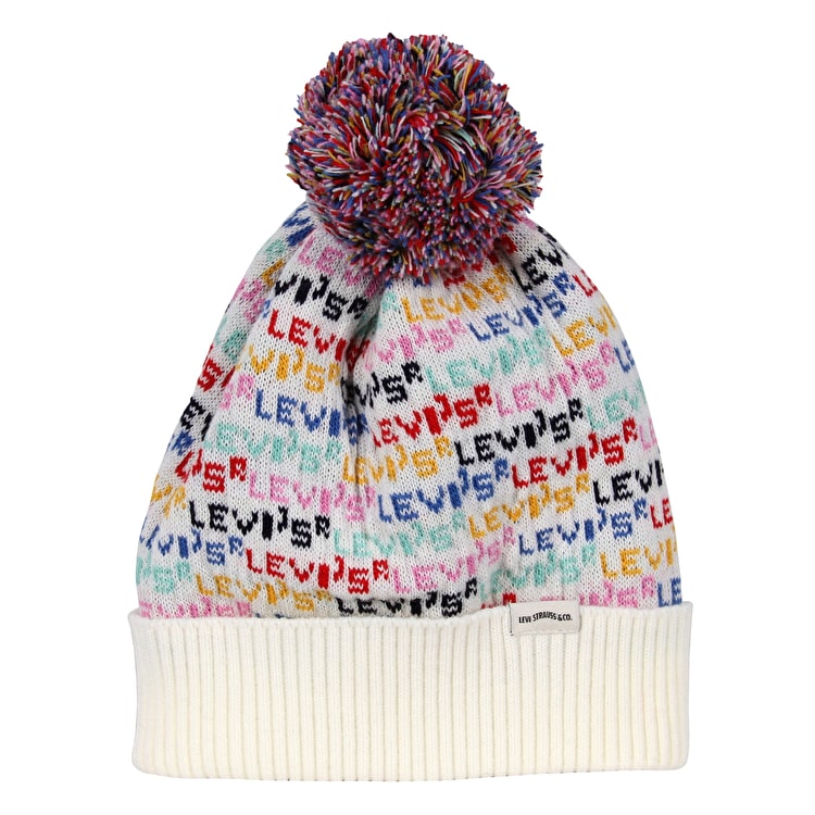 Levi's Repeat Logo Womens Beanie - Cream