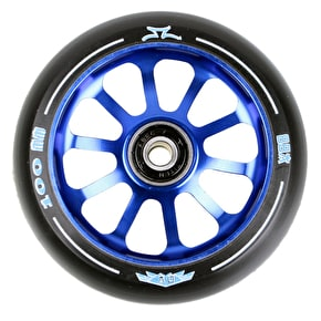 AO Delta 2017 10 Hole 100mm Scooter Wheel - Blue