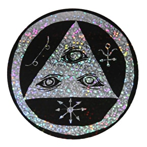 Welcome Talisman Skateboard Sticker - Black/Holographic 5