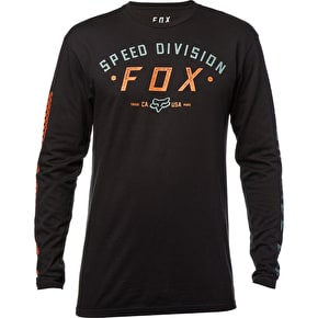Fox Ground Fog Long Sleeve T-Shirt - Black
