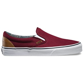 Vans Classic Slip-On Shoes - (C&L) Port Royale/Stripe Denim