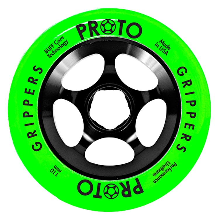 Proto 110mm Gripper Day-Glo Scooter Wheel - Green