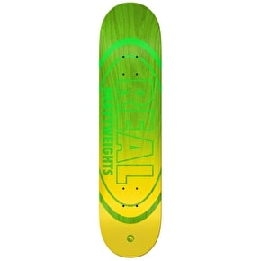 Real Heavyweights Skateboard Deck - Lime 8.5