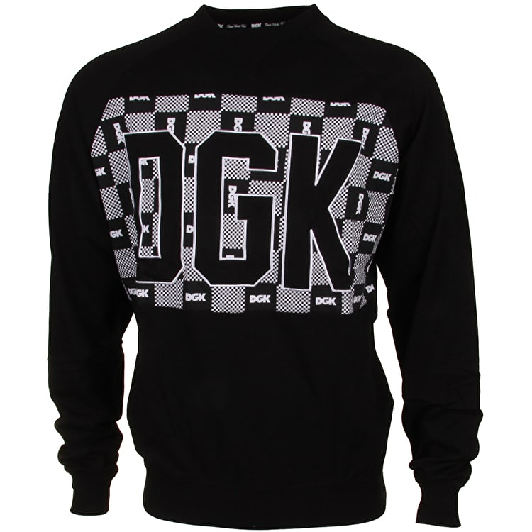 DGK Checkers Crewneck - Black