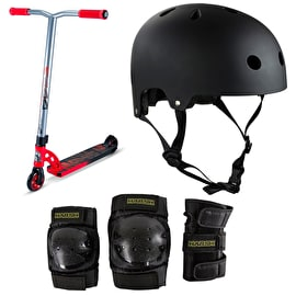 MGP VX7 Pro Red/Black Complete Scooter Bundle