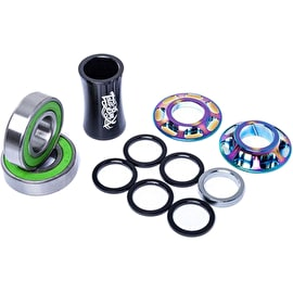 Total BMX Team Mid Bottom BMX Bracket - Rainbow 19mm
