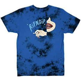 RIPNDIP Puff T Shirt - Royal Cloud Wash