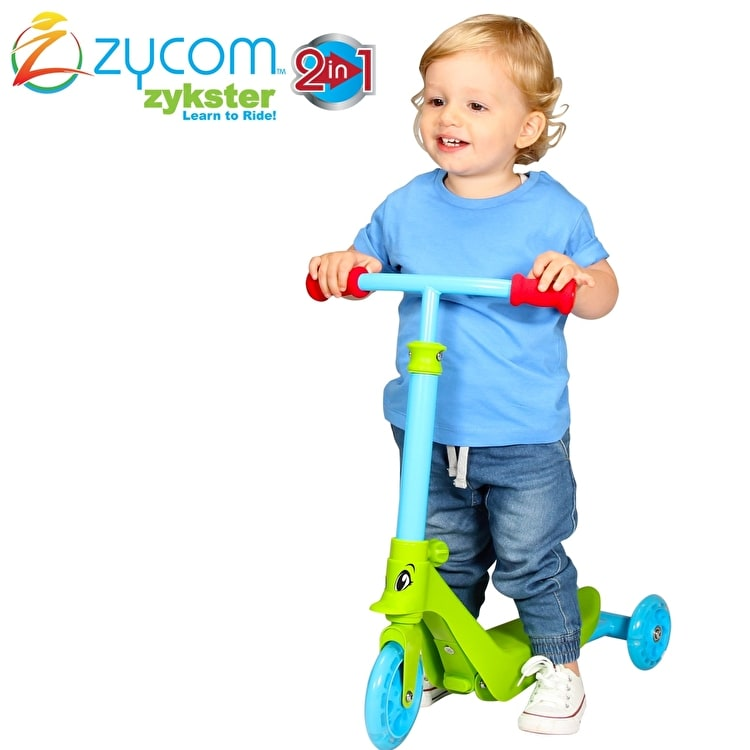 Zycom Zykster 2 In 1 Scooter - Lime/Blue/Red