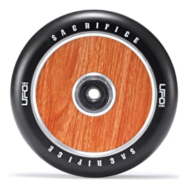 Sacrifice UFO 120mm Scooter Wheel w/Bearings - Black/Woodgrain