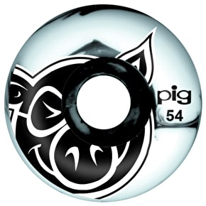 Pig Swirls Skateboard Wheels - Black/White 54mm (Pack of 4)