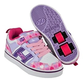 Heelys X2 Bolt Plus Light Up - Light Pink/Lilac/Hearts