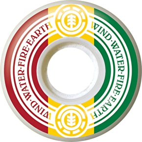 Element Rasta Skateboard Wheels - 53mm (Pack of 4)