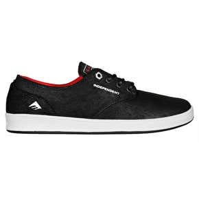 Emerica Romero Laced x Indy Skate Shoes - Black/Grey/Black