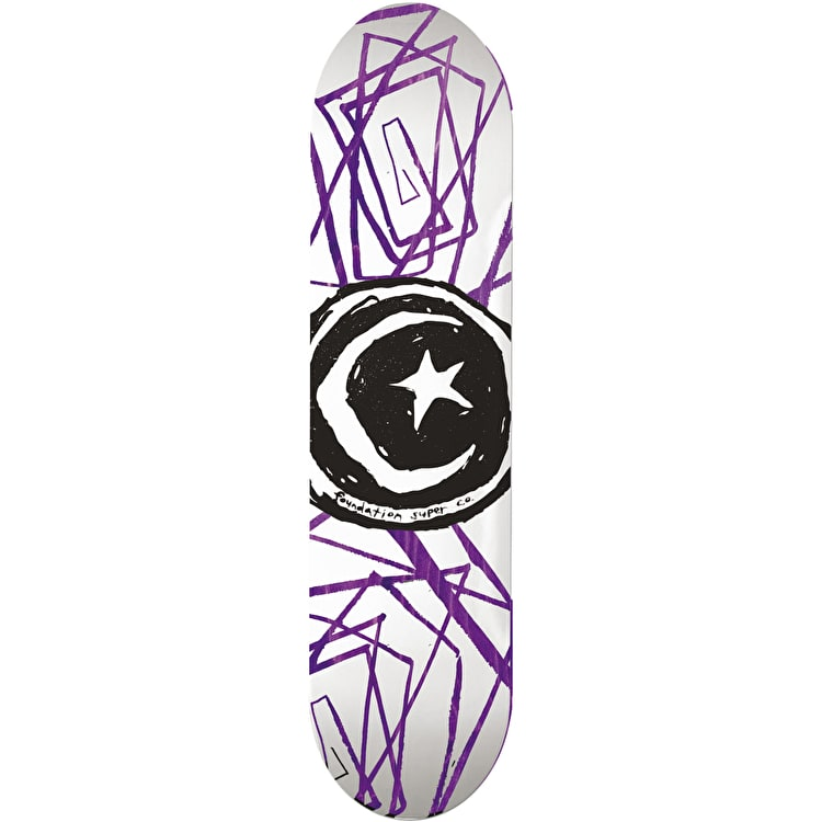 Foundation Star & Moon Lines Skateboard Deck - 8.0""