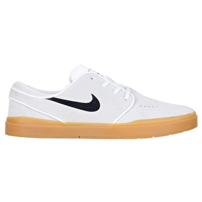 Nike SB Stefan Janoski Hyperfeel Skate Shoes - Summit White/Black