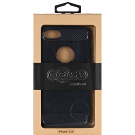 Case Brushed Carbon iPhone 7/8 - Navy