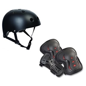 SFR Essentials Helmet & Padset Bundle - Black