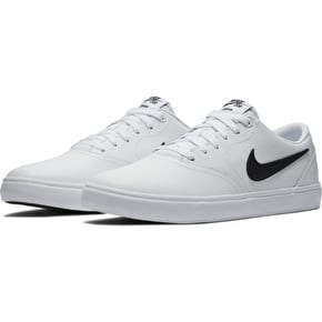 Nike SB Check Solar Skate Shoes - White/Black