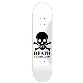 Death OG White Skull Skateboard Deck - 8.0