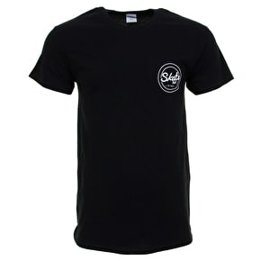 SkateHut Circle Dot Logo T-Shirt - Black