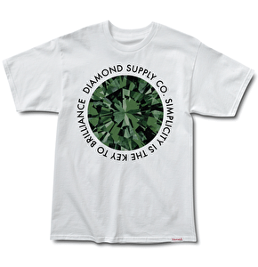 Diamond Simplicity T-Shirt - White/Green