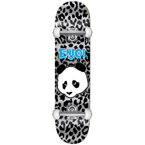 Enjoi Leopard Punk First Push Youth Complete Skateboard - Grey 7.25
