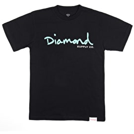 Diamond Supply Co Core Script T Shirt - Black