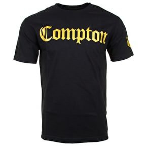Gold Compton T-Shirt - Black
