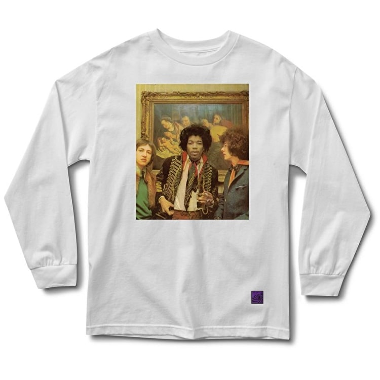 Grizzly Jimi In Amsterdam Longsleeve T-Shirt - White
