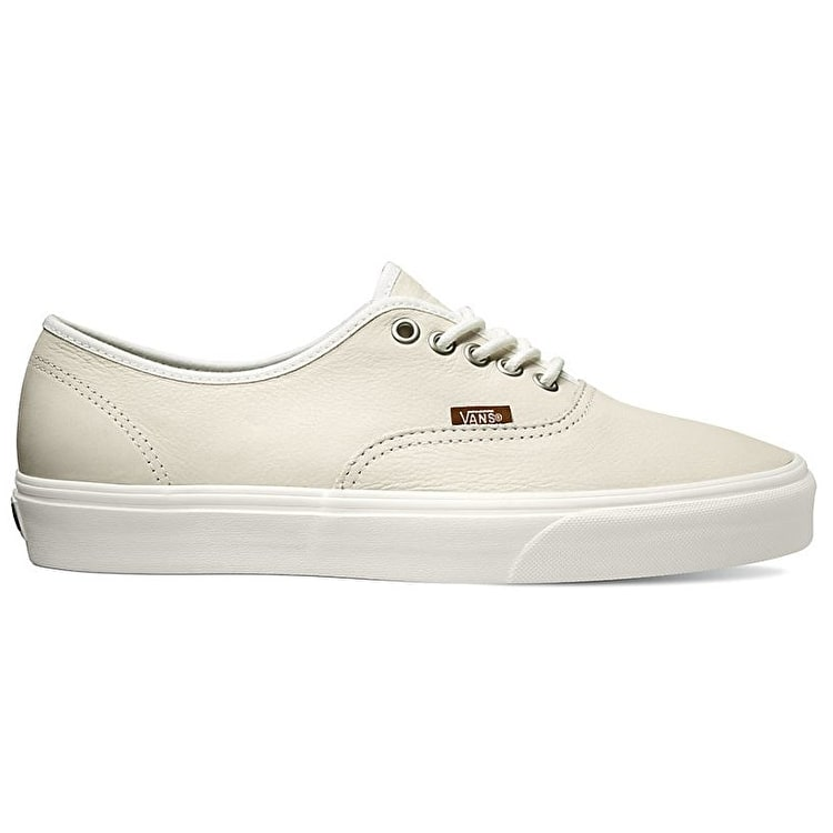 Vans Authentic Skate Shoes - (Leather) Blanc/Potting Soil