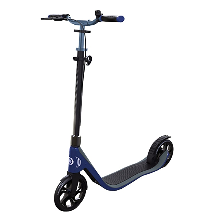 Globber One NL 205 Deluxe Complete Commuter Scooter - Titanium/Navy Blue