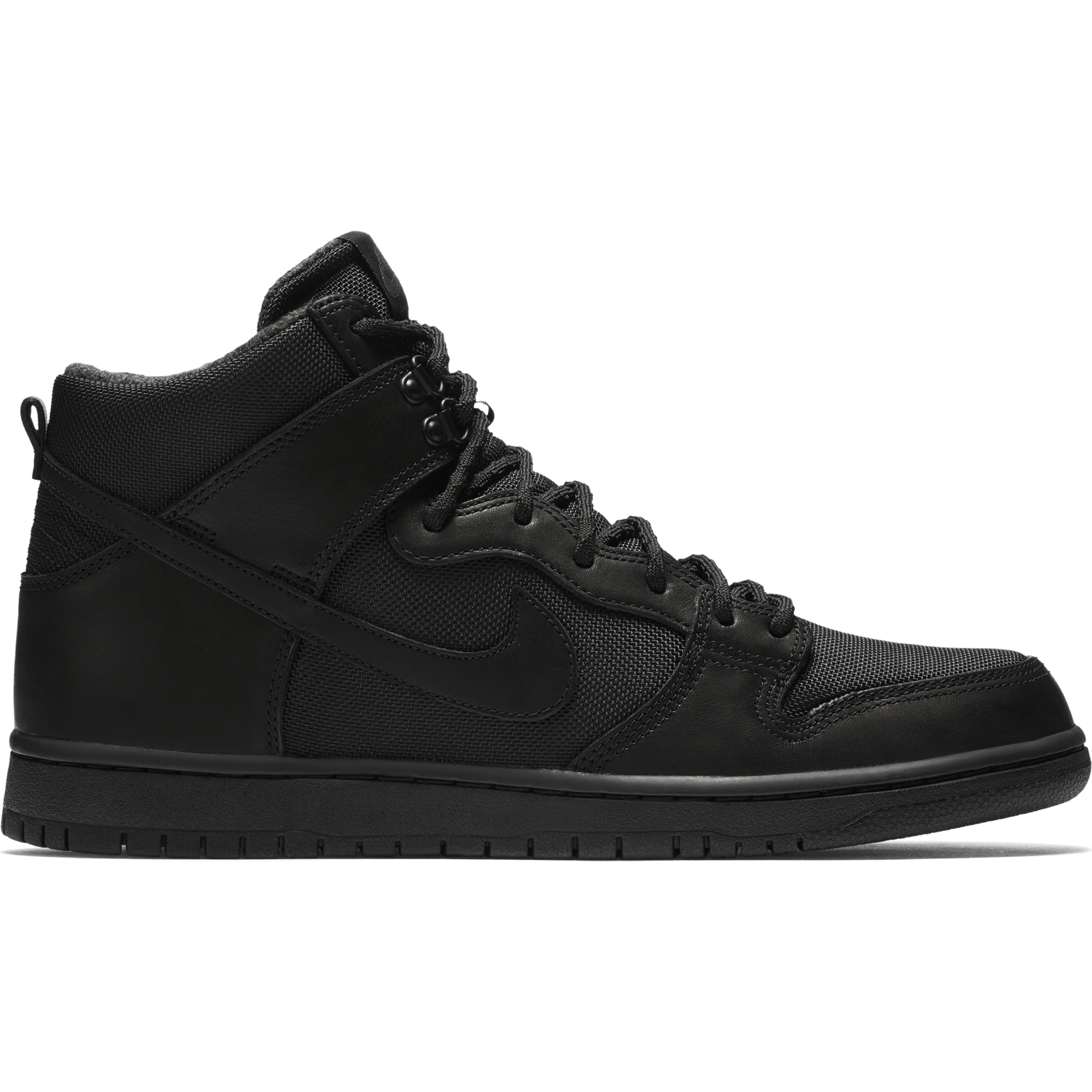 nike shoes white and black high top. free delivery nike sb zoom dunk high pro bota skate shoes - black/black/anthracite white and black top