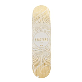 Fracture Skateboard Deck - DB15 White 7.75