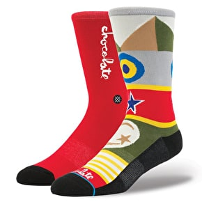 Stance x Chocolate Flags Socks - Red