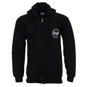 Skatehut Circle Dot Zip Hoodie - Black
