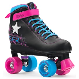 SFR Vision II Lights Quad Roller Skates - Black/Pink/Blue