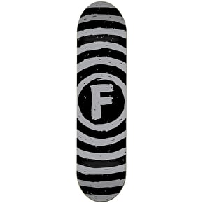 Foundation Vertigo Sketch Skateboard Deck - Black/Grey 8