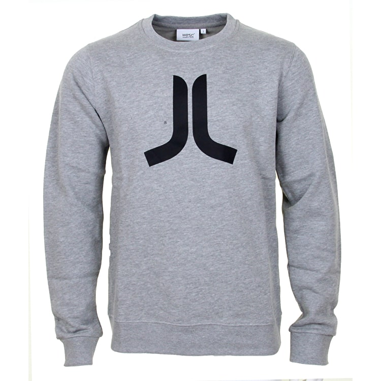 WeSC Icon Crewneck Sweatshirt - Grey Melange